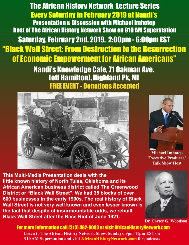 Black Wall Street Black History Month Lecture Nandis - 2-2-19